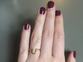 U-Ring  in 18k Gold Plated