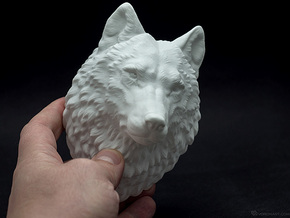 Proud Wolf Wall Mount in White Strong & Flexible