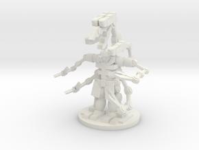 Tech Cyborge in White Natural Versatile Plastic
