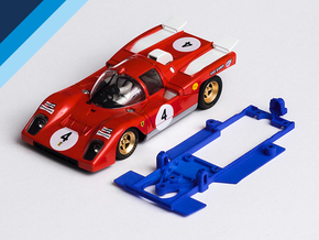 1/32 Spirit Ferrari 512M Chassis for Slot.it pod in Blue Processed Versatile Plastic
