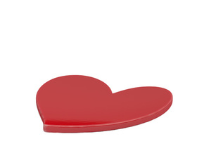 Ring dish in Gloss Red Porcelain