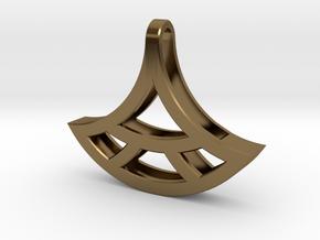 Fan Pendant - Essential Oil Diffuser Pendant in Polished Bronze
