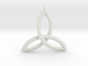 Celtic Knot Medallion in White Natural Versatile Plastic