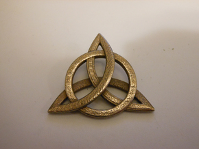 Zep Symbol 01 in Polished Bronzed Silver Steel