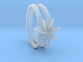 Flower Ring Size 5.5 in Smooth Fine Detail Plastic