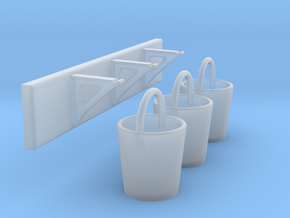 EP79 Fire Buckets & Brackets in Smooth Fine Detail Plastic