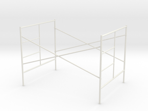 1:24 Step Frame Assembly 60x84x60 in White Strong & Flexible