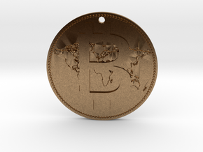 World Bitcoin Medal in Natural Brass