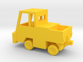 1/144 Scale NATO Hanger Tractor in Yellow Strong & Flexible Polished
