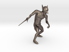 Goblin in Polished Bronzed Silver Steel