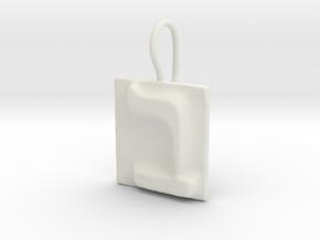 02 Bet Earring in White Natural Versatile Plastic
