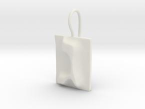 03 Gimel Earring in White Natural Versatile Plastic