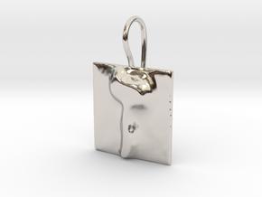 07 Zayn Earring in Rhodium Plated Brass