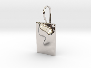 10 Yod Earring in Rhodium Plated Brass