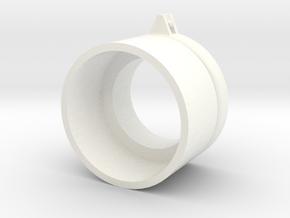 R44 Beacon Base in White Processed Versatile Plastic