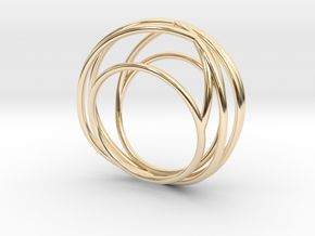 Nouv I (Medium) in 14k Gold Plated Brass