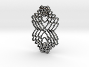 Interlocked Hearts in Polished Silver