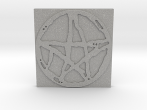 Rugged Pentacle 1 Tile by Gabrielle in Aluminum