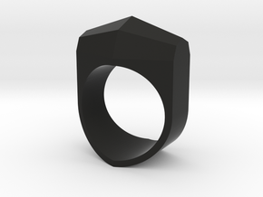 Octo Ring Size Medium in Black Natural Versatile Plastic