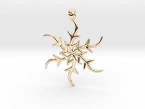 Holidays Flake Pendant in 14K Yellow Gold
