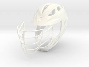 Helmet Divided - 2 Objects in White Processed Versatile Plastic