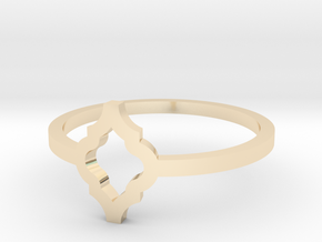 Morroccan Tile Ring Size 8 in 14K Yellow Gold