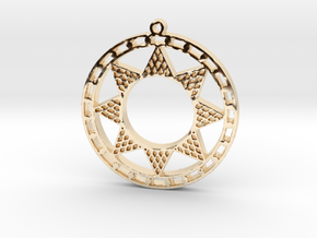Ancient Sun (cutout) in 14K Yellow Gold