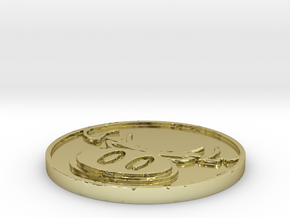 The Hate Project: HATE LOGO COIN in 18k Gold