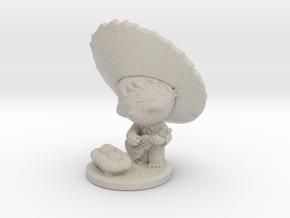 Jibarito con el niñito Jesús. in Sandstone: Small