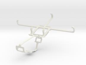 Controller mount for Xbox One & BLU Dash X Plus in White Natural Versatile Plastic