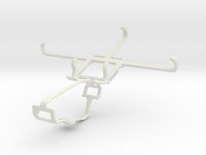 Controller mount for Xbox One & BLU Studio C in White Natural Versatile Plastic