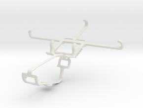Controller mount for Xbox One & BLU Vivo Selfie in White Natural Versatile Plastic