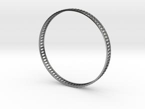 Bracelet Gates - Minimal Stackable in Polished Silver: Medium