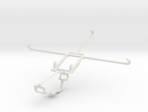 Controller mount for Xbox One & Dell Venue 8 7000 in White Natural Versatile Plastic