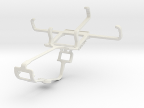 Controller mount for Xbox One & Lava Flair E2 in White Natural Versatile Plastic