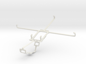 Controller mount for Xbox One & Lenovo ideapad MII in White Natural Versatile Plastic