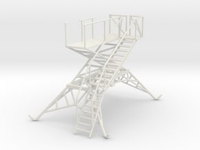 Aircraft crew boarding platform in White Natural Versatile Plastic: 1:48 - O