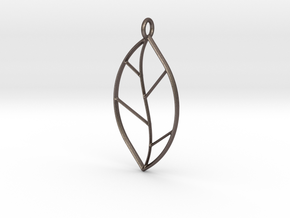 The One Leaf in Polished Bronzed Silver Steel