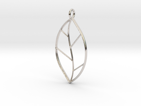 The One Leaf in Rhodium Plated Brass