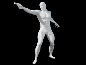 1:24 Male soldier 003 in Smooth Fine Detail Plastic