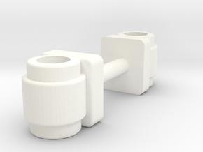 Wessex Pipe Joiner Pair in White Processed Versatile Plastic