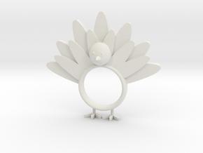 Thanksgiving Napkin Ring in White Natural Versatile Plastic
