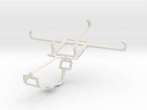Controller mount for Xbox One & Panasonic Eluga A2 in White Natural Versatile Plastic