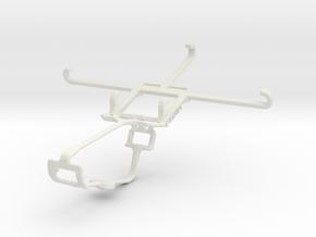 Controller mount for Xbox One & Panasonic Eluga L  in White Natural Versatile Plastic