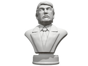 Donald Trump Presidental edition in White Natural Versatile Plastic