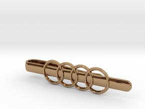 Luxury Audi Tie Clip in Polished Brass