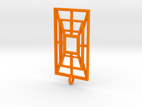 Weaved Metal in Orange Processed Versatile Plastic