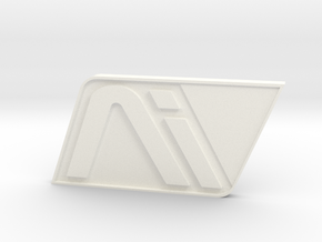 Andromeda White Badge in White Processed Versatile Plastic
