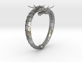 Dragon Ring in Natural Silver