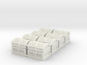 Wiz-War Chest tokens in White Strong & Flexible: Medium